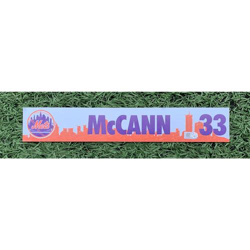 Photo of James McCann #33 - Team Issued Locker Nameplate - 2021 Spring Training
