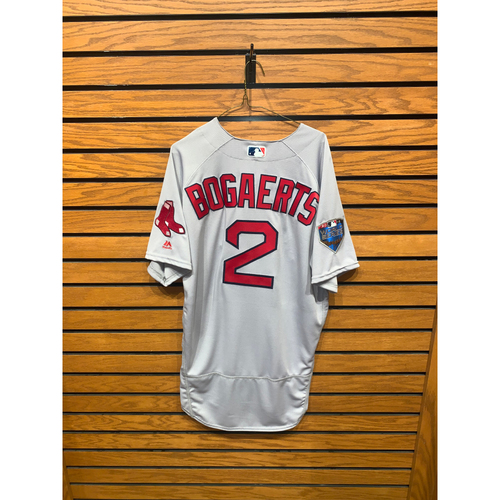 Photo of Xander Bogaerts Team Issued 2018 World Series Road Jersey