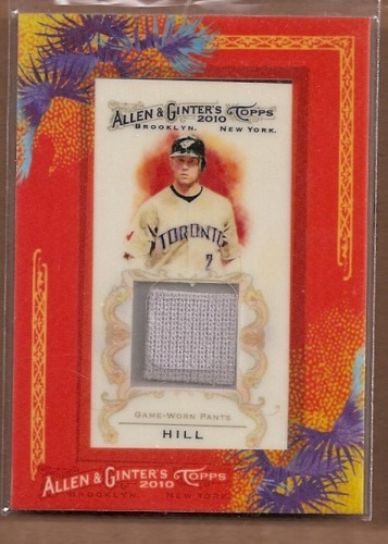 Photo of 2010 Topps Allen and Ginter Relics #AH Aaron Hill