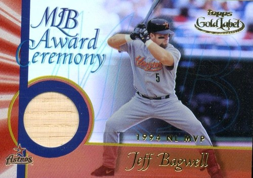 Photo of 2001 Topps Gold Label MLB Award Ceremony Relics #JB2 Jeff Bagwell MVP Bat