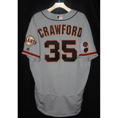 new style 3b568 53ea3 MLB Auctions | Brandon Crawford Game-Used Road Jersey - 6/30/16