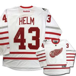 6ad66cc93 DARREN HELM Signed Centennial Classic White Reebok Jersey - Detroit Red  WingsDARREN HELM Signed Centennial Classic White Reebok Jersey - Detroit.