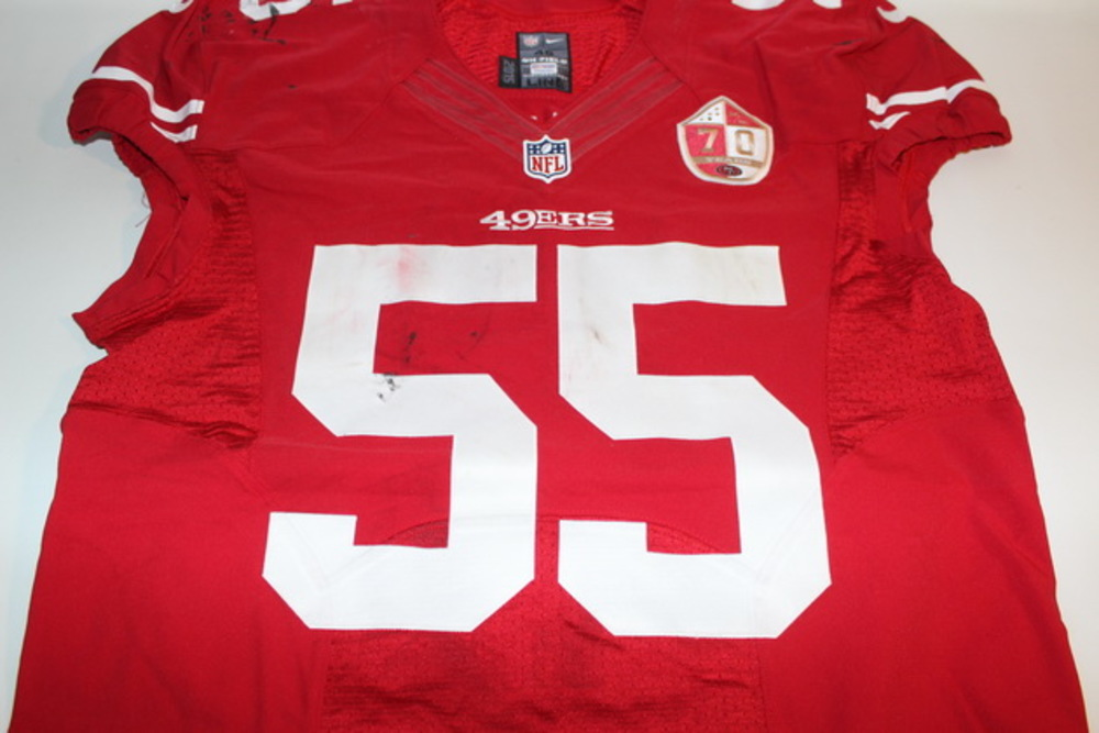 NFL Auction | STS - 49ERS AHMAD BROOKS GAME WORN 49ERS JERSEY ...