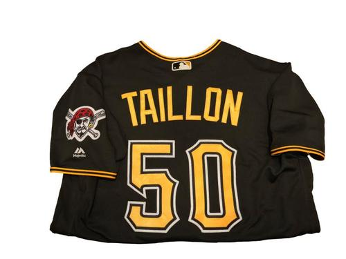 Photo of #50 Jameson Taillon Game-Used Black Alternate Jersey - Worn on 4/11/17 - 6.0 IP, 2 ER, 4 SO