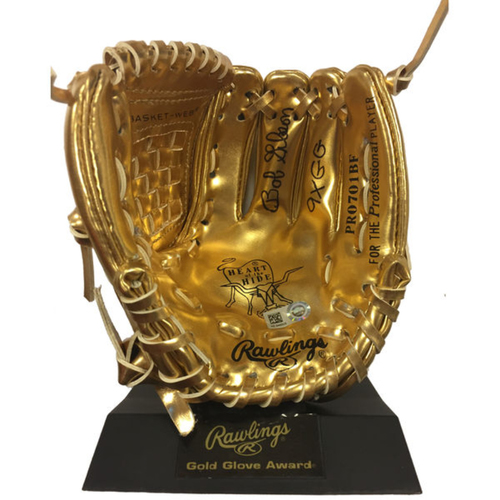Photo of Cardinals Authentics: Bob Gibson Autographed & Inscribed Mini Gold Glove