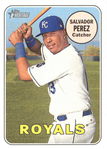 Photo of 2018 Topps Heritage #101 Salvador Perez