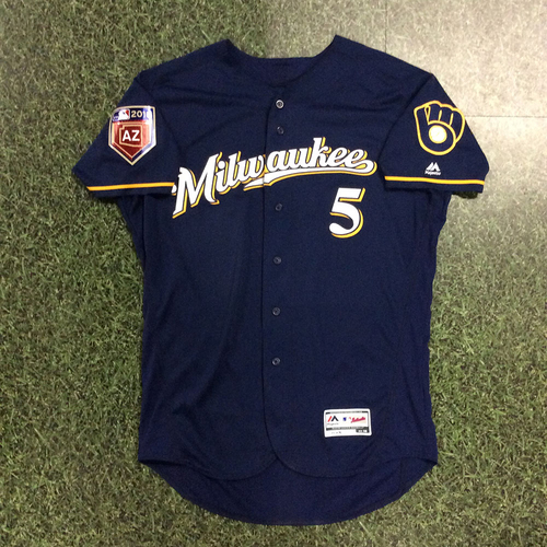 Photo of Jonathan Villar 2018 Game-Used Spring Training Jersey