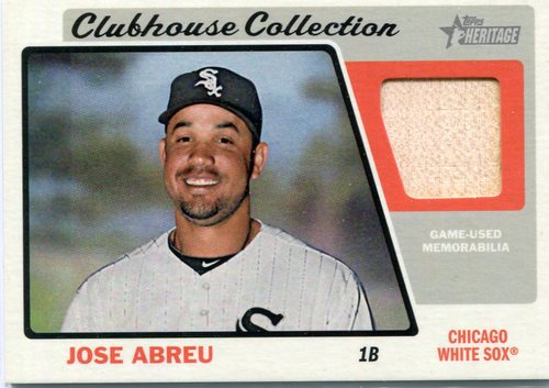 Photo of 2015 Topps Heritage Clubhouse Collection Relics  Jose Abreu