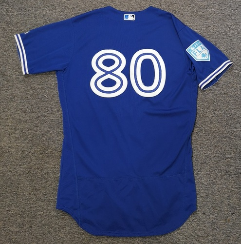 Photo of Authenticated Team Issued 2019 Spring Training Jersey - #80 Kevin Vicuna. Size 44