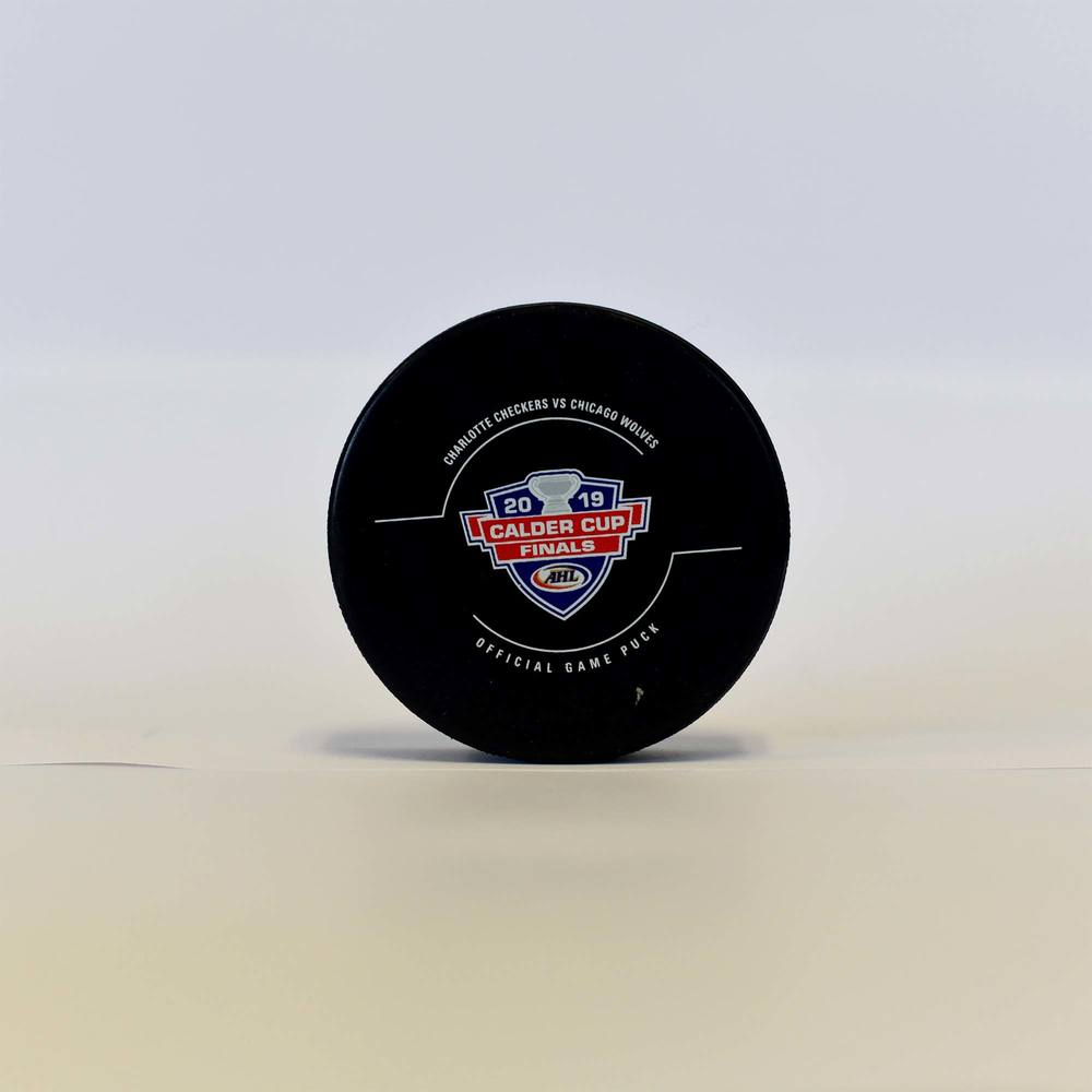 2019 Calder Cup Finals Charlotte Checkers Goal Puck - Game 1 Goal 1