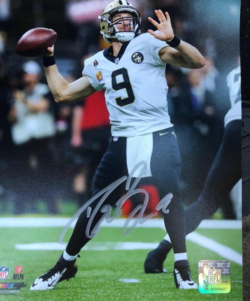 Signed Drew Brees 8x10 Photo + 25 Entries Into The NFL Auction Brees Dream Sports Weekend Sweepstakes