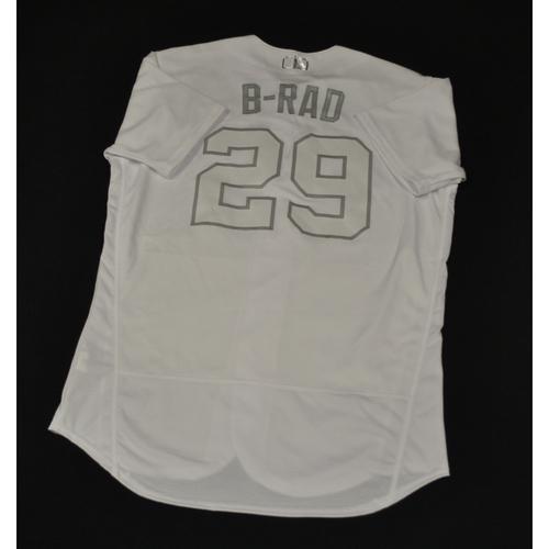 "Photo of Brad ""B-RAD"" Brach New York Mets Game-Used 2019 Players' Weekend Jersey"