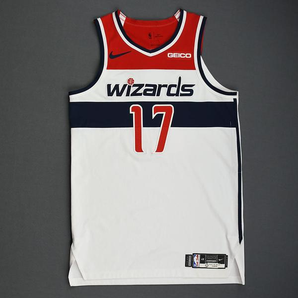 Image of Isaac Bonga - Washington Wizards - Kia NBA Tip-Off 2019 - Game-Worn Association Edition Jersey - Wizards' Debut