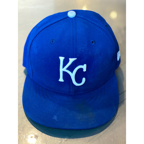 Photo of Game-Used Cap: Ian Kennedy (Size 7 3/8 - MIN @ KC - 9/29/19)
