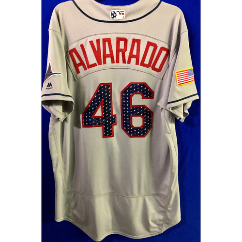 Photo of Stars and Stripes Game Used Autographed Jersey: Jose Alvarado - July 4, 2018 at MIA