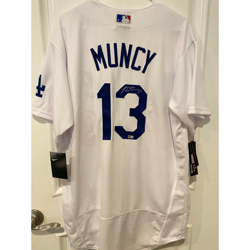 Photo of Max Muncy Authentic Autographed Los Angeles Dodgers Jersey