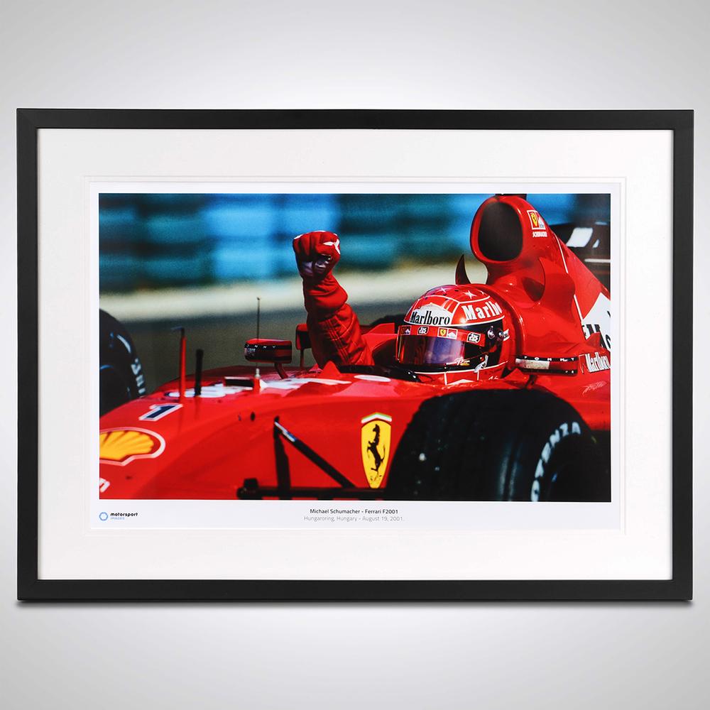 Michael Schumacher 2001 Framed Print