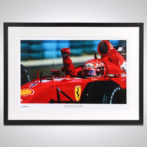Photo of Michael Schumacher 2001 Framed Print