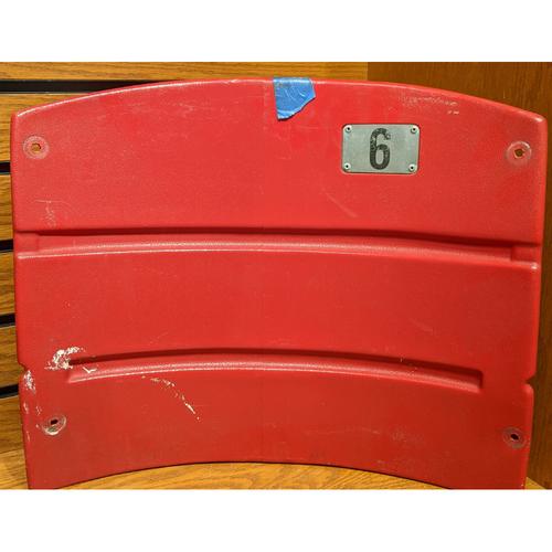 Fenway Park Red Right Field Box 89 Seatback #6