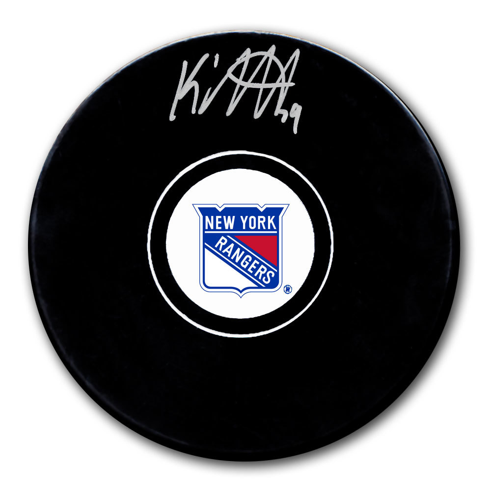 K'Andre Miller New York Rangers Autographed Puck