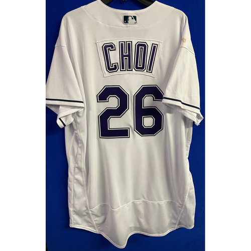 Photo of Game Used Devil Rays Jersey: Ji-Man Choi - May 29, 2021 v PHI