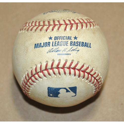 Photo of Game-Used Baseball - 2007 ALCS Game 5 - Cleveland Indians vs. Boston Red Sox
