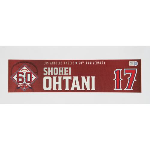 Photo of 2021 Shohei Ohtani Game Used Locker Tag - 7/27/21 vs. COL