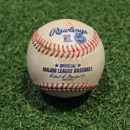 Photo of Game-Used Baseball: Joey Gallo 318th Career Hit (TEX@KC 4/1/21)