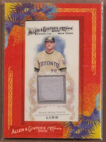 Photo of 2010 Topps Allen and Ginter Relics #AL Adam Lind