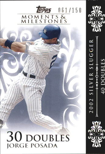 Photo of 2008 Topps Moments and Milestones #65-30 Jorge Posada