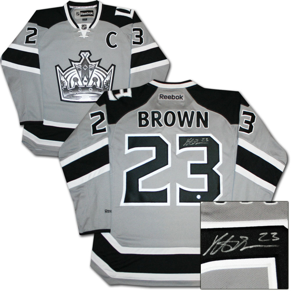 quality design 26332 bc6e7 Dustin Brown Autographed Los Angeles Kings 2014 NHL Stadium ...