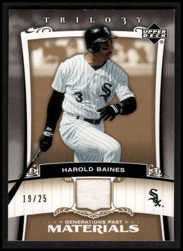 Photo of 2005 Upper Deck Trilogy Generations Past Materials Gold #HB Harold Baines Jersey 19/25