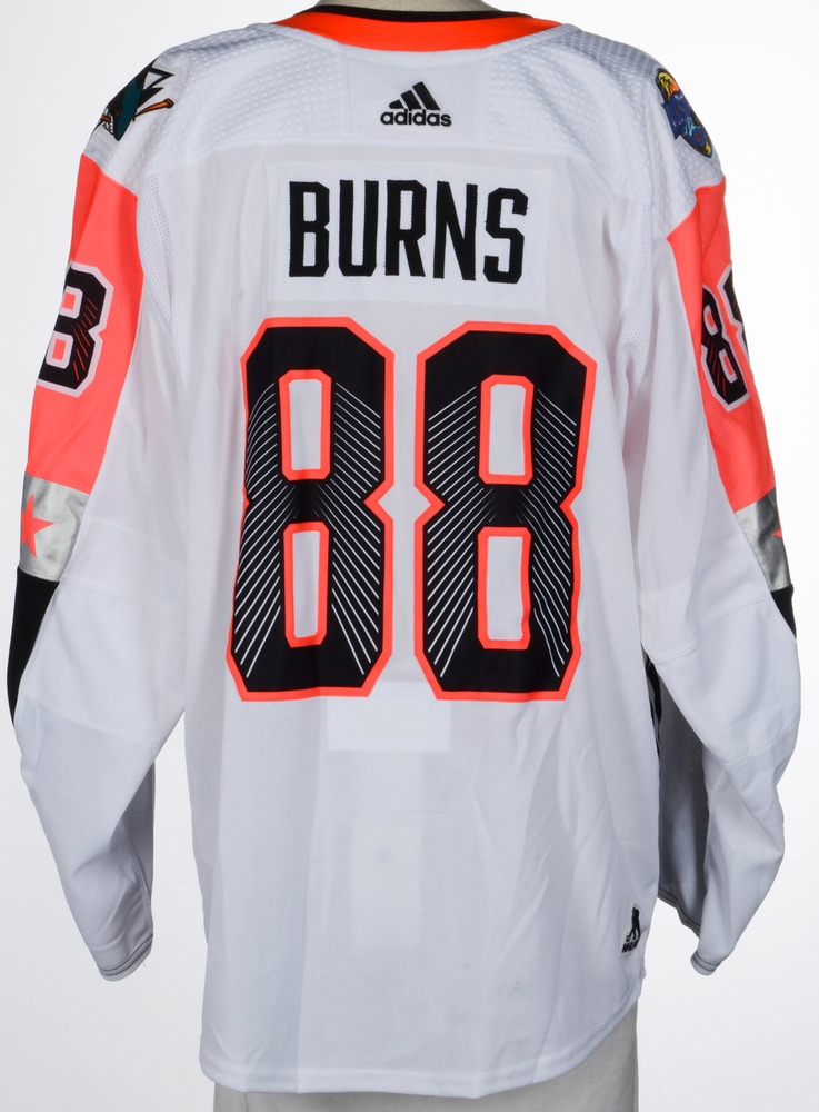 the best attitude 5b25c 6e7ae Brent Burns San Jose Sharks Game-Used 2018 All-Star Game ...