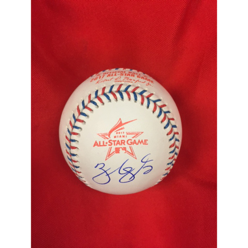 Zack Cozart -- Autographed 2017 All-Star Game Baseball from Miami
