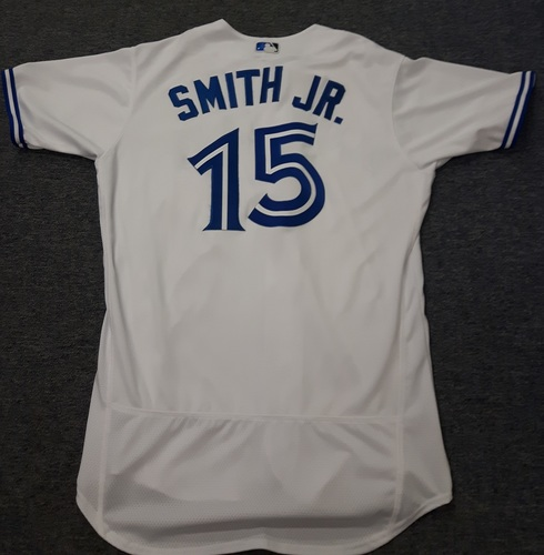 Authenticated Team Issued Jersey - #15 Dwight Smith Jr. (2017 Season). Size 46.