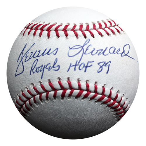 Photo of Autographed Baseball: Dennis Leonard Royals Hall of Fame 1989