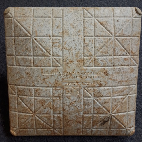 Photo of Authenticated Game Used Base - 1st Base for Innings 1 to 3 vs Kansas City (April 17, 2018: Used for Game 1 of Double Header)