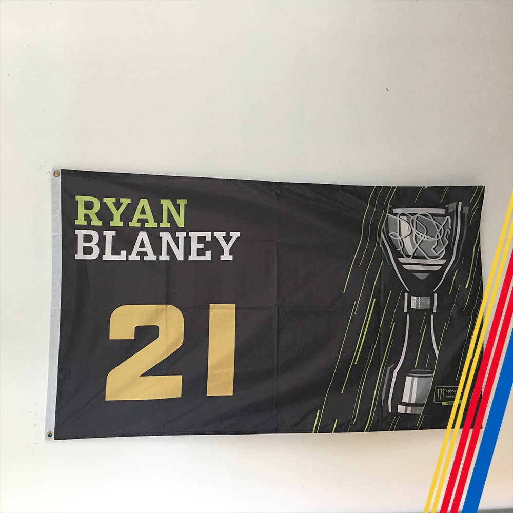 NASCAR's Ryan Blaney Autographed Flag!