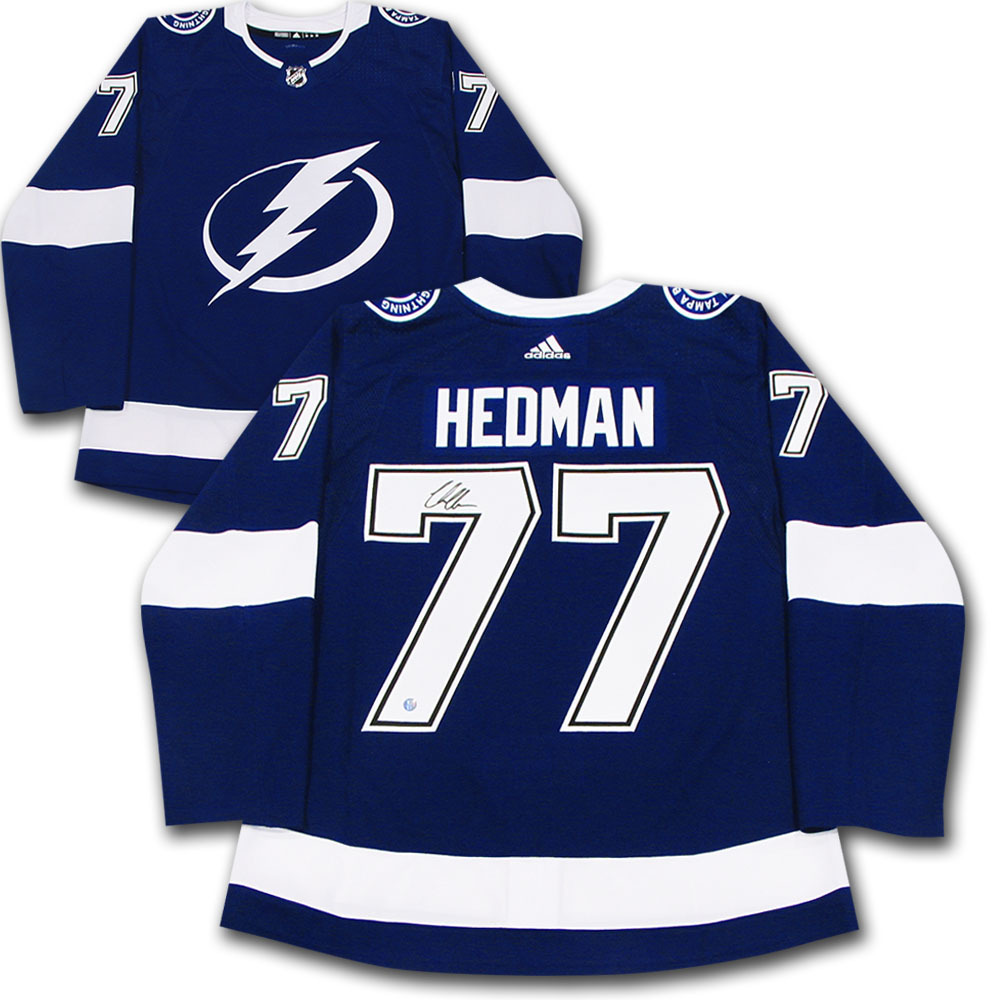 Victor Hedman Autographed Tampa Bay Lightning adidas Pro Jersey