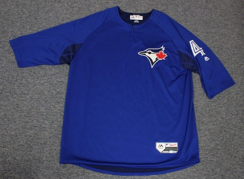 Photo of Authenticated Team Issued Batting Practice Jersey - #4 Luis Rivera. Size XL.