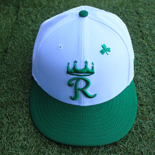 Photo of Team-Issued Saint Patrick's Day Cap: Foster Griffin (Size 7 1/2 - SEA @ KC - 3/17/19)