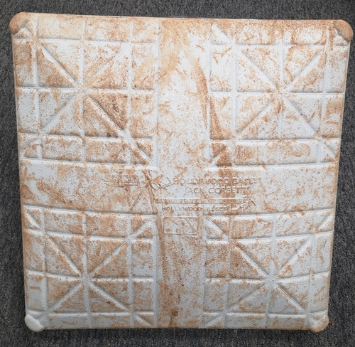 Photo of Authenticated Game Used Base - 2nd Base for Inning 1 to 3. June 17-20, 2019 vs LAA. In Place for Home Runs by Mike Trout, Shohei Ohtani and Cavan Biggio. 13th Career Stolen Base for Ohtani.