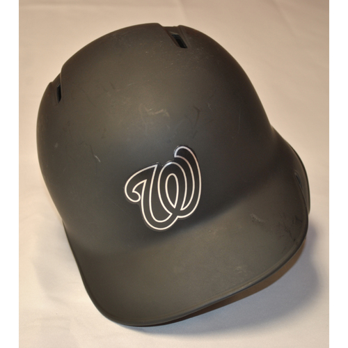 "Photo of Joe ""JR"" Ross Washington Nationals Game-Used 2019 Players' Weekend Helmet"