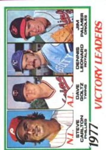 Photo of 1978 Topps #205 Victory Leaders/Steve Carlton/Dave Goltz/Dennis Leonard/Jim Palmer