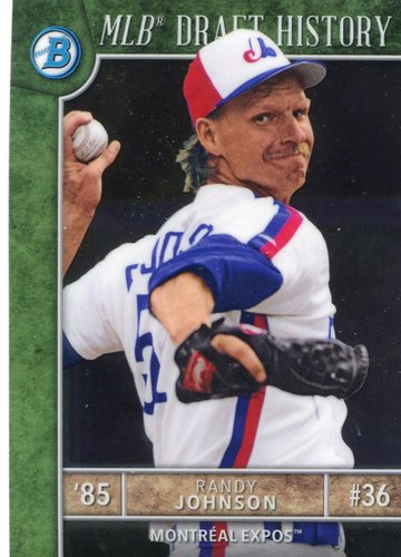 Photo of 2017 Bowman Chrome Draft MLB Draft History #MLBDRJ Randy Johnson
