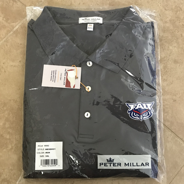 Photo of FAU Peter Millar Grey Polo (Men's M)