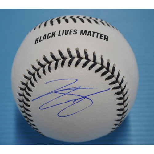 MLB Opening Day Auction Supporting The Players Alliance - Autographed Black Lives Matter Baseball - Tony Kemp