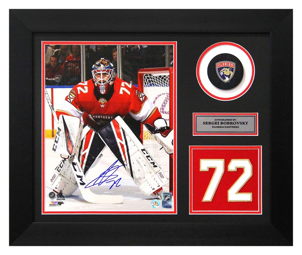 Sergei Bobrovsky Florida Panthers Autographed Franchise Jersey Number 20x24 Frame
