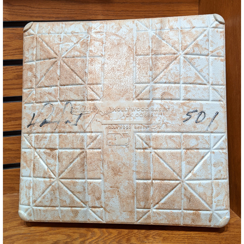 "Photo of David Ortiz ""501"" Autographed September 24, 2015 Game Used 2nd Base"