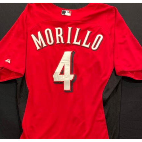 Photo of MORILLO -- Authentic Reds Jersey -- $1 Jersey Auction -- $5 Shipping -- Size 44 (Not MLB Authenticated)